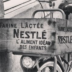 #mtricht #univercity #nestle #ad #milk #forbabies #bike #bicycle #maastricht #holland #netherlands #blackandwhite #ancient #old #vintage - @romudavid