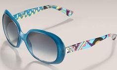 Emilio Pucci Blue Print Sunglasses - Best of Summer Sunglasses