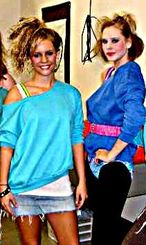 Me & Bailey Rockin out the 80's outfits<3
