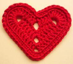 Hart in doorgaande toeren. ♥ⓛⓞⓥⓔ♥ Heart in continuous rows hooks. #love #crochet #hearts and #valentines