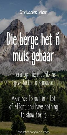 Afrikaans Language, Collective Nouns, Afrikaanse Quotes, Teachers Aide, Biker Quotes, Teachers' Day, Idioms, Quote Posters, Educational Activities