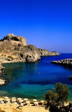 Agios Pavlos Bay, Rhodes, Greece. Look at the color of the water!