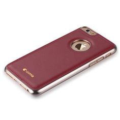 Custodia in Pelle Con Vista Logo per IPhone modello 6S/6 Plus colore Bordeaux