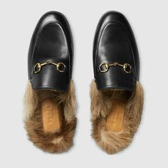 Gucci leather, Kangaroo fur lined loafers!  What next??