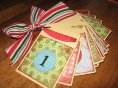 Cute spin on a Christmas count down where you actually do something each day.  Love the idea of being able to make a memory each day as well.