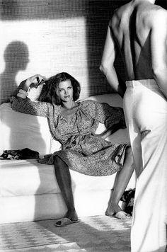 Calvin Klein, Ensemble, photographed by Helmut Newton for Vogue, 1975
