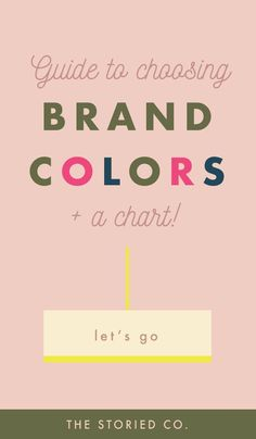 How to choose colors when you brand your business. #brandingcolors #colorpalette #brandcolors #logocolors #colorguide #colorchart #brandingtips #brandingideas #brandingtutorials Personal Branding, Marca Personal, Branding Your Business, Creative Business, Business Logos, Personal Logo, Corporate Branding, Logo Branding, Business Tips