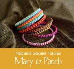 Maryandpatch, Macramé bracelet tutorial - VERY EASY