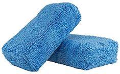 Chemical Guys MIC_292_02 Premium Grade Microfiber Applicator, Blue (Pack of 2) #travel #automobileaccessories #microfiberapplicator Clean Microfiber, Car Detailing, Packing, Guys, Fabric, Blue, Cali, Cleaning, Zip