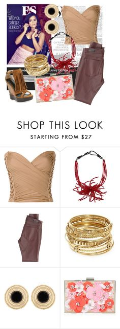 """""""Bust Up Your Life"""" by sleek-janna ❤ liked on Polyvore featuring Coleman, Balmain, Brunello Cucinelli, AG Adriano Goldschmied, ABS by Allen Schwartz, New Look and Burberry"""