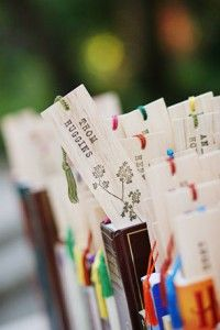 book favors with customized book marks as favors!!