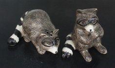 Kitchen Ceramic Figurine Salt & Pepper Shaker S&P 2 Raccoons - SP032