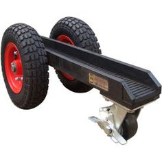 "Trucks & Carts | Trucks-Panel Mover | Abaco 3 Wheel Slab Dolly 3WD Pneumatic Rubber Tires 880 Lb. W.L.L. 3-1/8"" Channel 