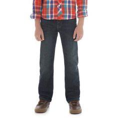 Wrangler Boys' Premium Slim Straight Pant, Size: 12 Regular, Green