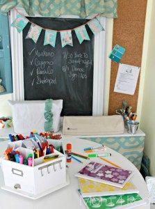 13 DIY CREATIVE HOMEWORK STATIONS {ORGANIZE}