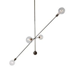 Apparatus Highwire Large  Industrial, Transitional, Contemporary, MidCentury  Modern, Glass, Leather, Metal, Ceiling by Jay Jeffers   The Store
