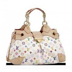 Louis Vuitton Monogram Multicolor Handbag Blanc LV M40123