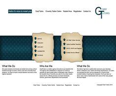 Grad Tutors tuition #agency #web #design I made in #2011