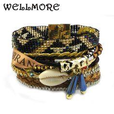 WELLMORE 2017 new BOHO Style Bracelet Handmade  Beads  fashion bracelets for women Magnet bracelet S/M/L B1517