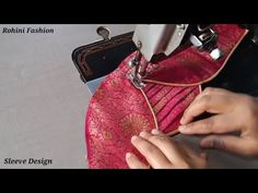 Simple and easy sleeve design. and easy sleeve design. and easy method of stitching. Chudi Neck Designs, Blouse Neck Designs, Sleeve Designs, Hand Designs, Simple Blouse Designs, Kids Frocks Design, Sleeves Designs For Dresses, Youtube, Stitching