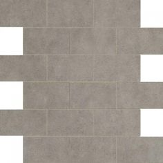 "Marazzi Essentials 12""x12"" Graceful Grey Brick Mosaic #marazzitile #americanfastfloors"