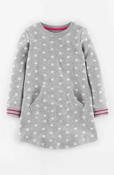 Mini Boden Star Print Sweatshirt Dress (Toddler Girls, Little Girls & Big Girls) available at #Nordstrom
