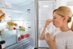 Does your refrigerator smell bad inside, even after cleaning it? Here's how to remove fridge odor and smells from a cleaning professional. How To Clean Refrigerator, Kitchen Refrigerator, Clean Dishwasher, Uses For Coffee Grounds, Glass Cooktop, House Cleaning Services, Smell Good, Tricks, Cleaning Hacks