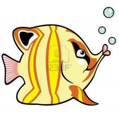 peces de acuario, imagen de dibujos animados para los bebés y niños pequeños, ilustración vectorial Foto de archivo - 17272626