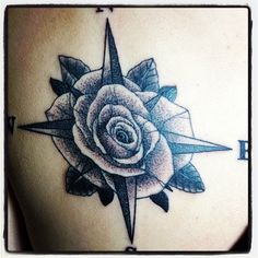 Literal compass rose tattoo, pretty much what I want, just different style