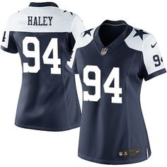 Nike Elite Charles Haley Navy Blue Women s Jersey - Dallas Cowboys  94 NFL  Throwback Alternate 924bd134c