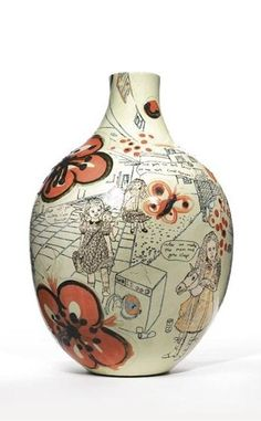 """""""are you an art lover or an art cock teaser?"""" """"fuck off you middle class tourist"""" """"relax we make the mess and you clap"""" Grayson Perry A WEED IS JUST A PLANT IN THE WRONG PLACE glazed earthenware by by cm Executed in 2003 Sculptures Céramiques, Sculpture Art, Pottery Sculpture, Pottery Art, Ceramic Design, Ceramic Art, Grayson Perry Art, Grace Perry, English Artists"""