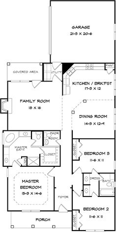 "Flip this. Make the great room the entry. Then the ""foyer"" between the bedrooms will become my master room sitting area"