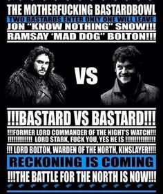"""Bastard vs Bastard [Jon """"Know Nothing"""" Snow vs Ramsay """"Mad Dog"""" Bolton] in a fight for the ages #GameOfThrones #DemThrones"""