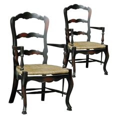 These would be beautiful in my dining room!  French Country Ladderback Arm Chair - Set of 2 $669.99