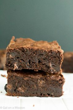 Thick, fudgy, and chewy homemade brownie recipe! Say goodbye to boxed brownie mix!
