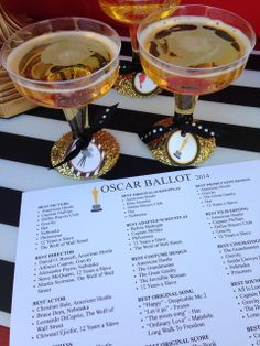 Fill out the ballot at an Oscar's party!  See more party ideas at CatchMyParty.com!