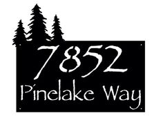 Rustic Pine Address sign  Personalized Address by CandGMetalArt