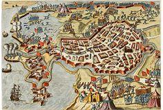 17th-C. Map of Bergen op Zoom on OneKingsLane.com