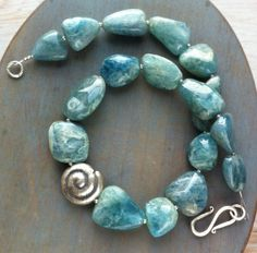 Natural Aqua Marine and sterling silver  £149.00