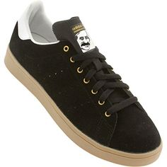 Adidas Stan Smith Vulc Black   Running White Skate Shoes-... Adidas Stan e3cfea1f0