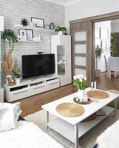 Home Living Room, Living Room Designs, Living Room Decor, Modern Minimalist Living Room, Minimalist Home, Living Room Wall Wallpaper, Diy Room Decor Videos, Mekka, Latest House Designs