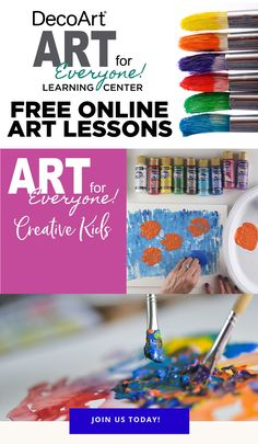 Using techniques and ideas from master artists of the past, these videos are the ideal way to introduce young, creative minds to art history in a fun and engaging way. Tertiary Color, Art Basics, Impressionist Artists, Principles Of Art, Glitter Paint, Arts And Crafts Projects, Art Journal Pages, Creative Kids, Acrylic Painting Canvas