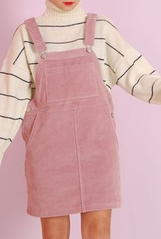 I love the soft, girly feel of this, and the stripes that give the look some depth. #KoreanFashion