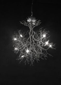 "Roots ""Small to Medium"" on Sales. From 880.00 to 680.00. Handmade ceiling light made of pewter wires ."