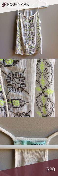 Maurices White Embroidered Tank Brand: Maurices  Condition: Excellent!   Size: XS  Details: Real embroidery. Gauzy material. Maurices Tops Tank Tops