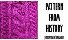 Pattern from history - summer cables from 1990 by Pattern Duchess Knitting Blogs, Knitting Stitches, Knitting Projects, Knitting Patterns, Swatch, History, Summer, Knit Patterns, Knit Patterns