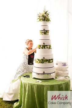 My very own wedding cake! Put it together in my wedding dress