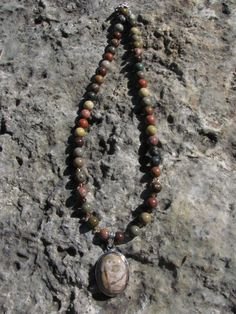 Jasper and Crystal Necklace