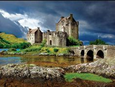 Eilean Donan Castle, Scotland, Century There's no better place to see the amazing architecture of castles than in Europe, from the stone fortresses of the Scottish highlands to the storybook lookalikes of Germany. Scotland Castles, Scottish Castles, Scotland Uk, Inverness, Beautiful Castles, Beautiful Places, Castle Series, Buffalo Games, Eilean Donan