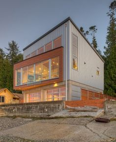 Designs Northwest Architects have recently completed the Tsunami House, located on Camano Island in Washington State.